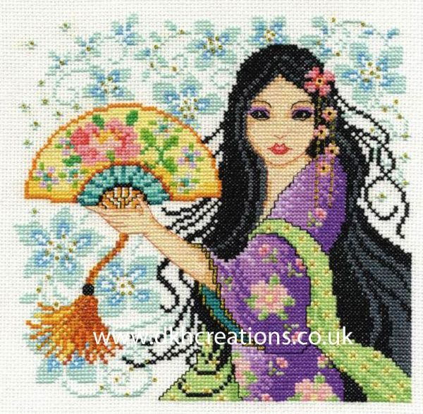 Geisha Cross Stitch Kit